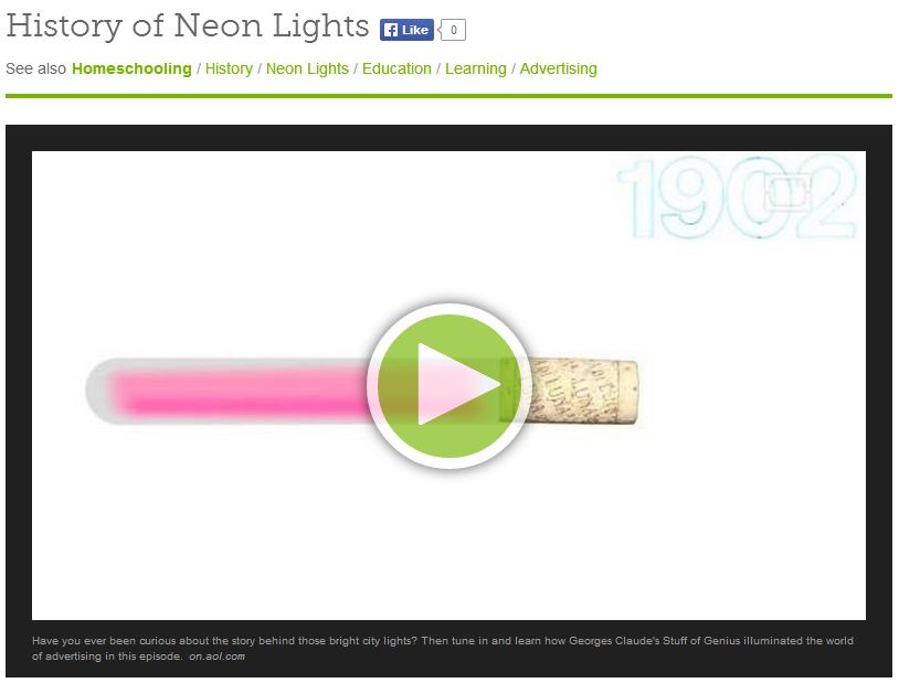 history of neon lights