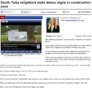 south-tulsa-neighbors-make-detour-signs-in-construction-zone