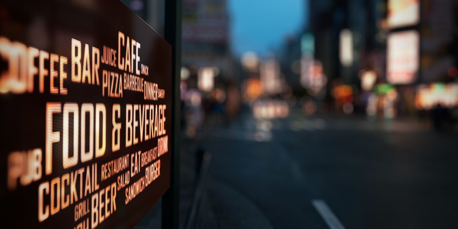 Use LED Message Signs to Display the Specials at Popular Restaurants